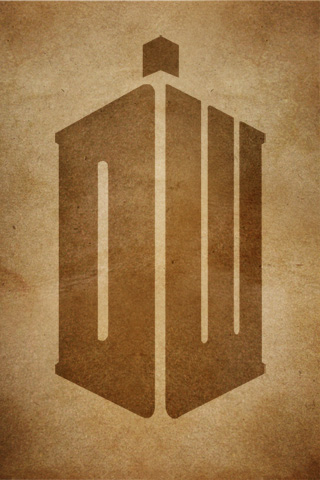Doctor Who logo iPhone Wallpaper