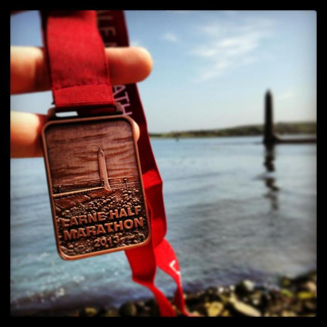 Larne Half Marathon 2013 medal