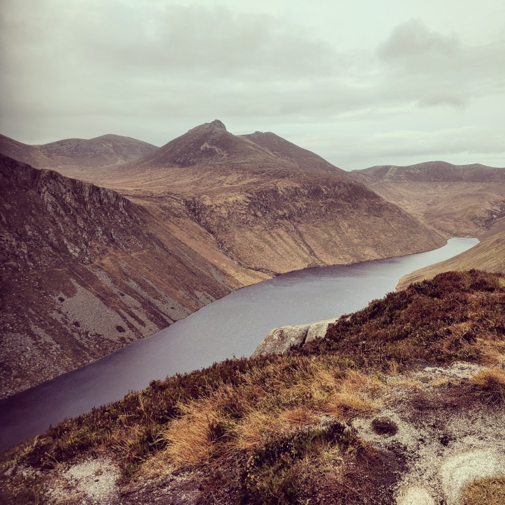 Ben Crom reservoir from the top of Slieve Binnian, November 2017